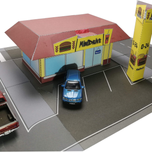 Miniváros MiniDrive letölthető papírmakett